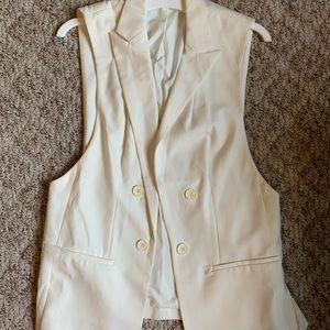 Off white Blazer style vest